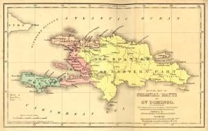 Haiti occupies the western portion of Hispaniola