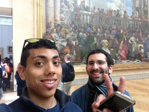 We are in the Louvre
