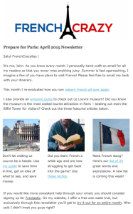 FrenchCrazy Newsletter