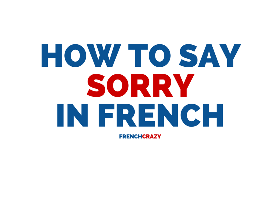 How to Say Sorry in French
