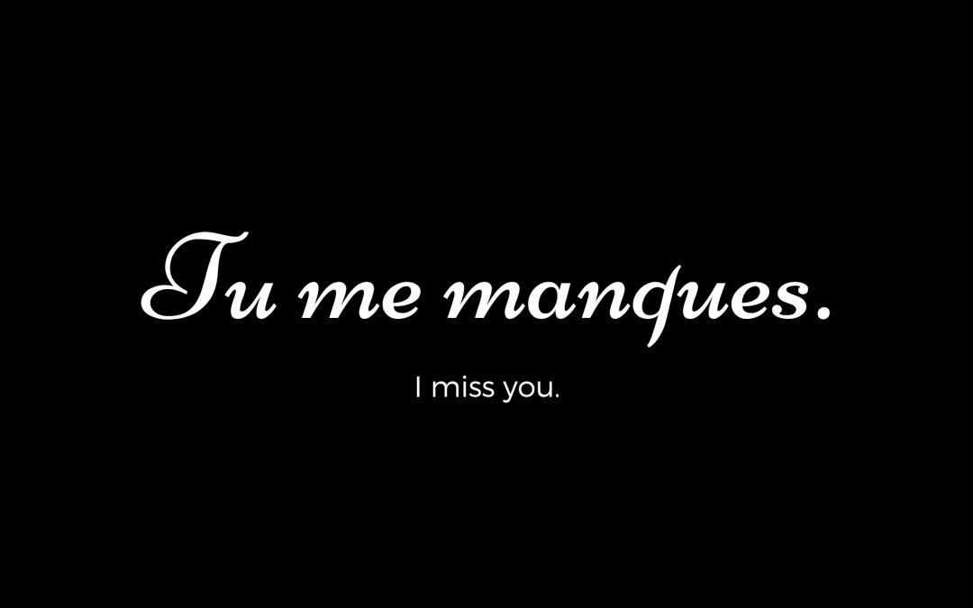 Tu Me Manques in French
